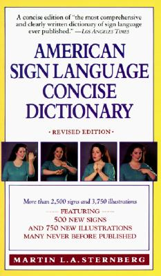 American Sign Language Concise Dictionary By Sternberg, Martin L. A.